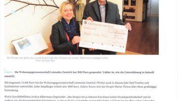 Hospiz erhält nochmals Geld aus WoGe-Topf - 28.11.2018 IKZ