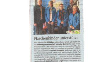 Unterstützung für Verein Flaschenkinder - 19.11.2019 IKZ